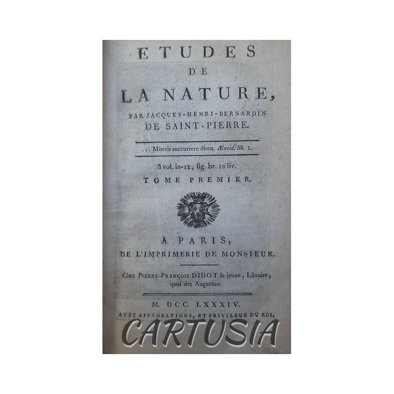Etudes_de_la_Nature T_I Jacques-Henri-Bernardin_de_Saint-Pierre